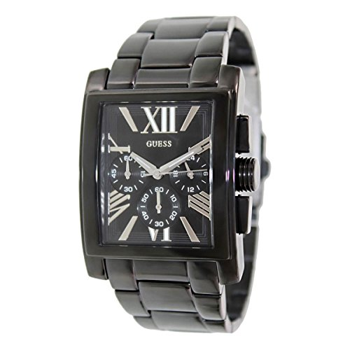 Guess Mens Black Ion Plated - Guess Mainframe Chronograph Black Dial Black Ion-plated Mens Watch SU0009G3