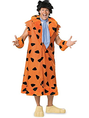 Rubie's The Flintstones Fred Costume, Orange/Black, -