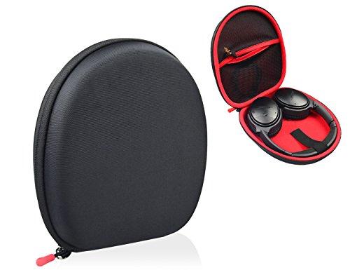 Headphone Case for SONY MDRXB950BT, XB950N1, XB650BT, ZX770; Skullcandy Hesh 3; Bose QuietComfort 35, 25, QC2, QC15, QC3, SoundLink around ear; bebe Boom Wireless Headphones (Polyester Black)