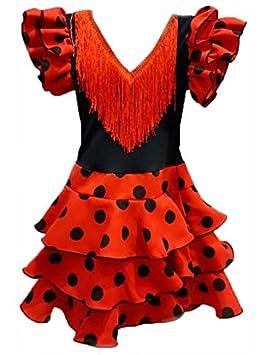 DISBACANAL Vestido de andaluza para niña - Único, 3-5 años