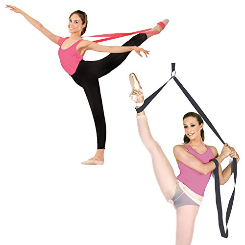 The Original Ballet Stretch Band and Leg Stretcher Set For Total Flexibility by BALANCE PRO. Perfect for Dance and...