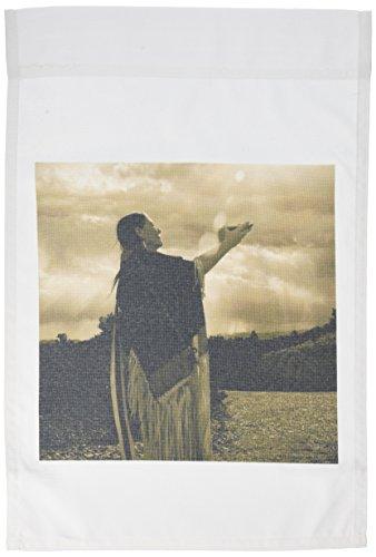 3dRose fl_92694_1 Native American Medicine Woman Santa Fe Nm US32 Jmr0546 Julien Mcroberts Garden Flag, 12 by 18-Inch