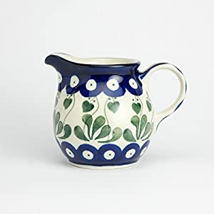 Polish Pottery Creamer Milk Jug – Love Leaf