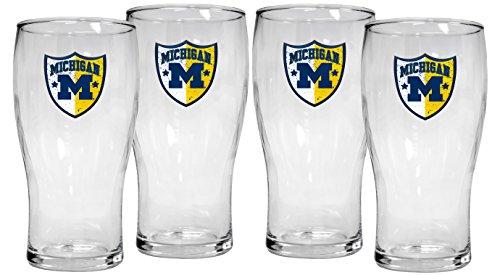Michigan Wolverines 4-Pack 16 oz Pilsner Glass