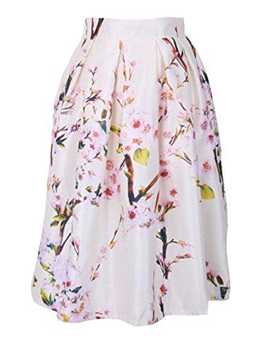Jupe De Cocktail Slim Femme Jupe Beau Jupe Aoliait A Fit Pink Fashion Jupe ImprimEs Jupe Skirt ElGant Vintage Femelle Plisse Line TqvxaIwpv