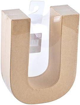 MP - Letra Decorativa en 3D Grande de Cartón - Letra U - Color ...