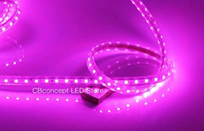 CBConcept 90FT Pink 120 Volt High Output LED SMD5050 Flexible Flat LED Strip Rope Light - [Christmas Lighting, Indoor / Outdoor rope lighting, Ceiling Light, kitchen Lighting] [Dimmable] [Ready to use] [7/16 Inch Width X 5/16 Inch Thickness]