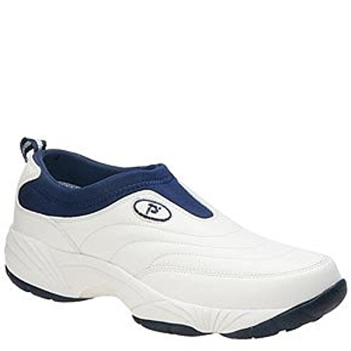 Propet Mens Wash & Wear Slip-On II Shoe & Oxy Cleaner Bundle White / Navy XJiDrI9i