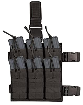 VooDoo Tactical 20-9319 Drop Leg Shingle Holds 6 Rifle Mags