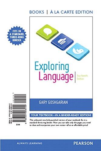 Exploring Language, Books a la Carte Edition (14th Edition) by Pearson