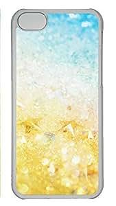 LJF phone case iPhone 5c Case Unique Cool iPhone 5c PC Transparent Cases Pebble Design Your Own iPhone 5c Case