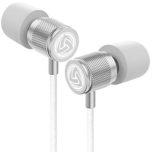 LUDOS Ultra Kopfhörer - In EarKopfhörer Kabel, Headphones mit Mikrofon, Kristallklarer Klang, Ausgewogene Höhen und Tiefen, Neuer Memory Foam, Langlebiges Kabel, Bässe, Lautstärkeregelung