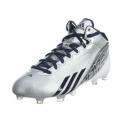adidas New Adizero 5 Star 2.0 Mens 12 Football Molded Cleats Platinum/Navy: Sports & Outdoors