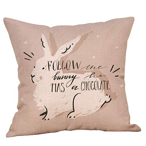 Thomasville Fitted Sheet (Weiliru Throw Pillow Covers Easter Motive Bunny Bottom Easter Easter Eggs Fresh Decor Pillowcases Polyester Square Hidden Zipper Home Cushion Decorative Pillowcase)