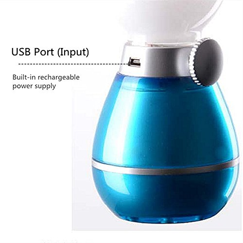 BearsFire USB Rechargable LED Blowing Control Kerosene Candle Lamp Nostalgia Retro Style LED 0.4W Adjustable Portable Night Light Desk Lamps Dimming Knob for Home Camping barbecue journey (Blue) by BearsFire (Image #5)