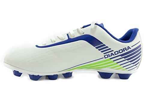 Diadora - Botas de fútbol para hombre Bianco/BluOltremare 39 Bianco/BluOltremare
