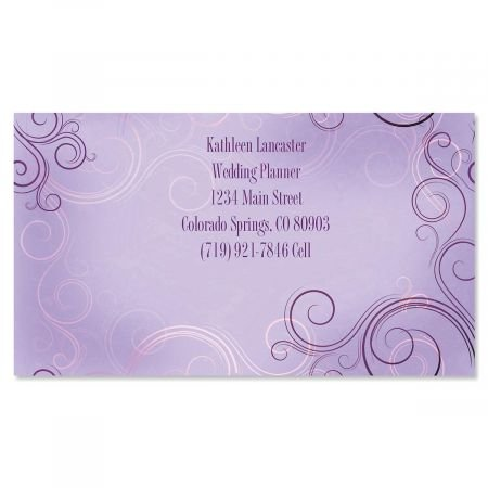 Vogue Business Cards - Set of 250 2'' x 3-1/2 custom business card design; 80# Cover Stock, Opaque, Matte by Colorful Images