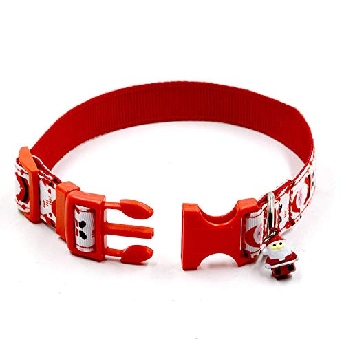 Pictures of RYPET Christmas Dog Collar and Leash - Santa 4