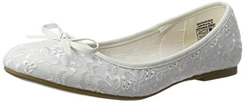 Jane Klain Damen 221 807 Geschlossene Ballerinas Weiß (WHITE)