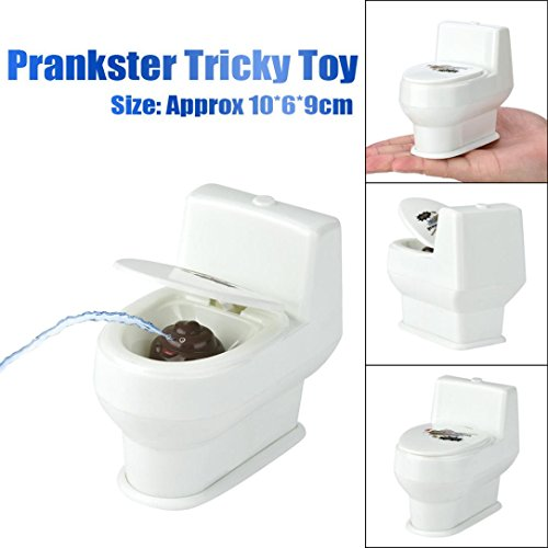 Kanzd Mini Funny Prank Squirt Spray Water Toilet closestool Joke Gag Toy Desktop Gift - Top Gun Guy Costume