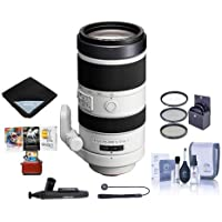 Sony 70-400mm F4-5.6 G Series SSM Super Telephoto Lens for A Alpha DSLR Cameras - Bundle With 77mm Filter Kit, Lens Wrap (19x19), LensPen Lens Cleaner, Capleash, Cleaning Kit, Mac Software Package