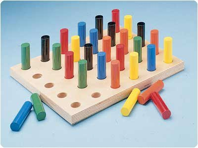 DSS Pegboard with Round Pegs