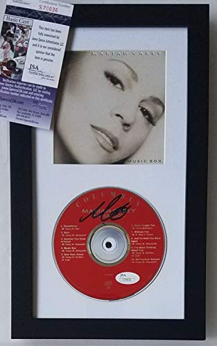 Mariah Carey Autographed Signed Framed Cd Display Jsa Coa Autograph Music Pop Singer Album from Sports Collectibles Online