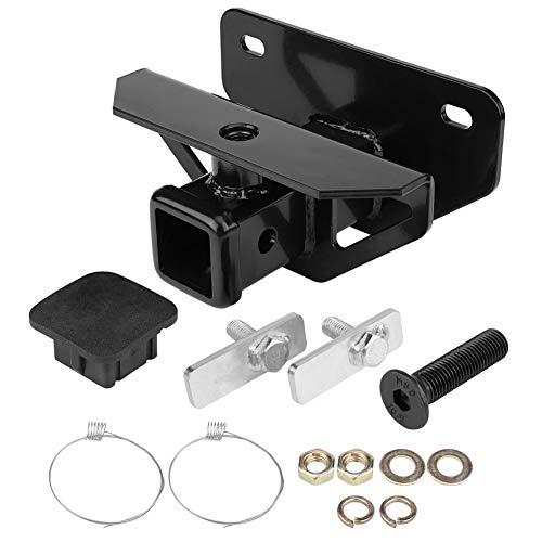 Trailer Receiver Hitch, Q235 Manganese Steel Rear Receiver Hitch Black Tow Towing Trailer Hitch Kit for RAM1500 03-18…
