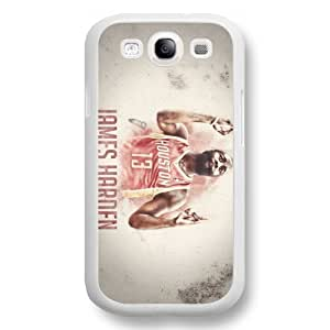Onelee(TM) - Customized White Hard Plastic Samsung Galaxy S3 Case, NBA Superstar Houston Rockets James Harden Samsung Galaxy S3 Case