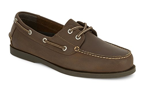 Dockers Men's Vargas Leather Handsewn Boat Shoe,Rust, 10.5 W US -