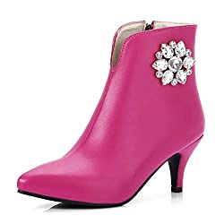 Women's Rhinestone Pointed Toe Ankle Boots