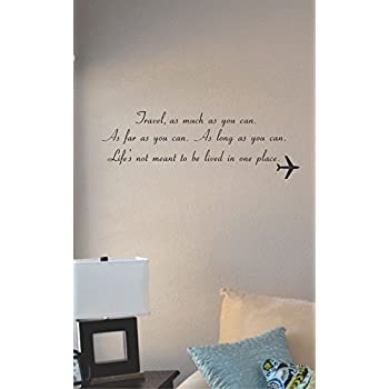 Travel As Much As You Can Vinyl Wall Art Decal Sticker Amazoncom - Wall decals you can write on