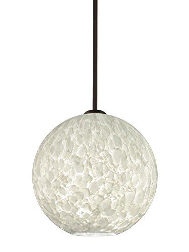 Br Pendant 1 Light Stem (Besa Lighting 1TT-COCO1219-BR Coco 12 - One Light Stem Pendant, Bronze Finish with Carrera Glass)