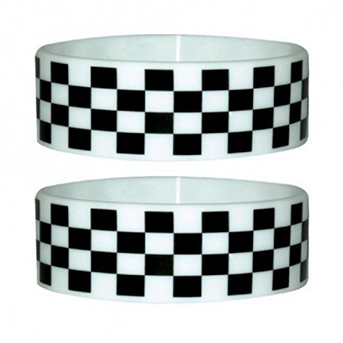 1art1 Symbols Wristband for Collectors - Checkers (2 x 1 inches)