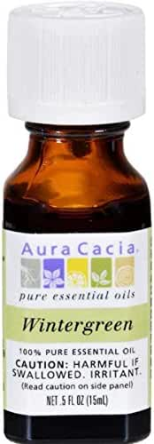 Aura Cacia Essential Oil, Wintergreen, 0.5 Fluid Ounce