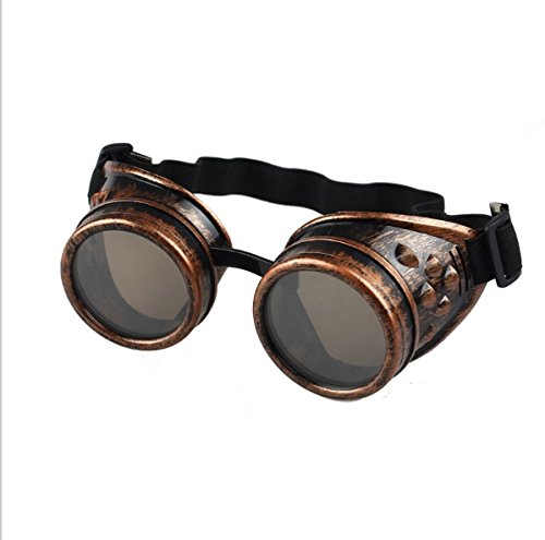 Nicky Bigs Novelties Steampunk Cosplay Goggles, Black, One Size 4