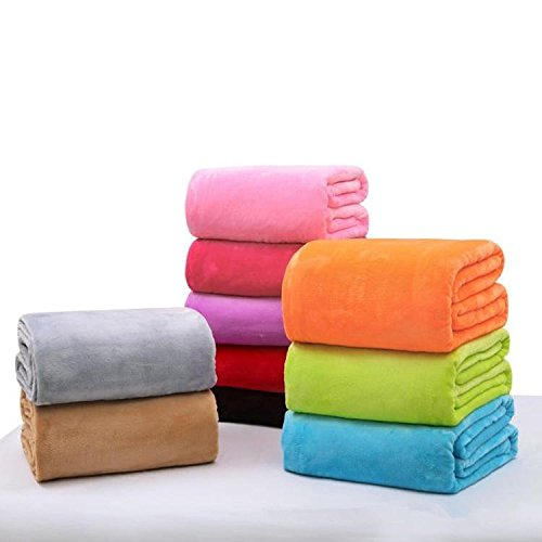 Strong Bedclothes - 6x39 4inch Travel Warm Velvet Blanket Double Sided Conditioned Solid Bedding Towel - Honorable Wholesome Jelled Upstanding Unhollowed Satisfying - 1PCs