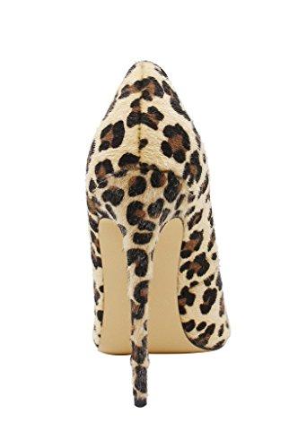 Grande Leopard Talons Stilettos Talon Femmes Chaussures Escarpins Taille Suede Aiguille Chaussures Femme uBeauty vafPOqWYt