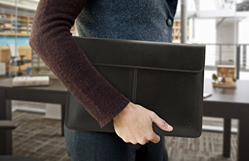 a27cecd59 Amazon.com: HP 13-inch Laptop Leather Sleeve (Black): Computers &  Accessories