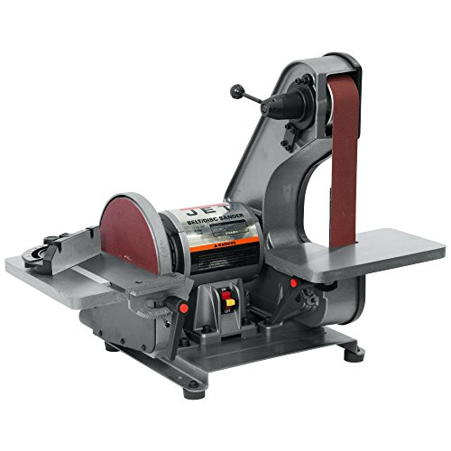 - JET J-41002 2-Inch by 42-Inch 3/4-Horsepower Bench Belt and 8-Inch Disc Sander
