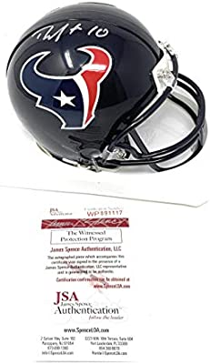 263ff62c6c8 DeAndre Hopkins Houston Texans Signed Autograph Mini Helmet JSA Witnessed  Certified