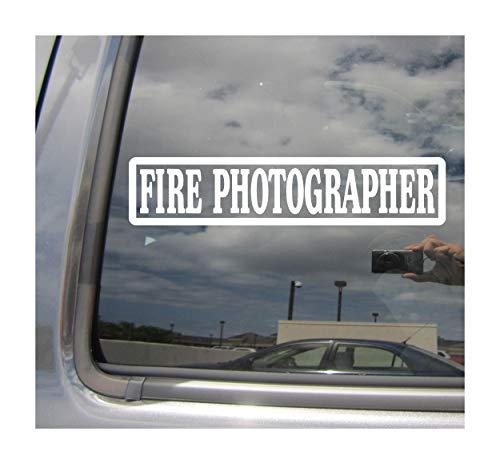 Right Now Decals Fire Photographer - Firefighter Fireman - Cars Trucks Moped Helmet Hard Hat Auto Automotive Craft Laptop Vinyl Decal Store Window Wall Sticker 10051 (Photographer Fire)
