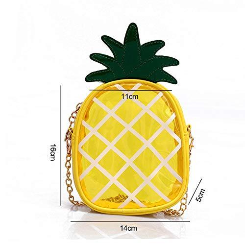 bandoulière forme paquet sac fruits ananas bandoulière petit chaîne main à à en femme mini de à pratique pour Sac à transparente bandoulière filles de sac dames Sac gelée avec n8PYwqIv