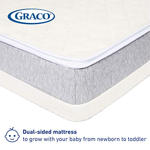 41al7nnCDhL - Graco Ultra Dual-Sided Premium Crib And Toddler Mattress – 2 Sides For Baby And Toddler, CertiPUR-US, GREENGUARD, JPMA Certified Crib And Toddler Bed Mattress, Water-Resistant, Machine-Washable Cover