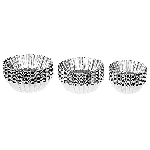Aluminium Cupcake - 10pcs Egg Tart Aluminum Cupcake Cake Cookie Mould Pudding Mold Baking Tool - Moulding Hot Modeling Clay Sculpture Mildew Bakery Shape