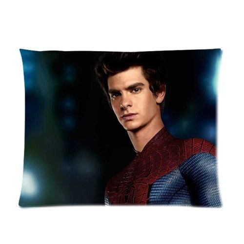 Famous Popular Music Star Movie Actor Series Custom Cotton & Polyester Soft Pillow Case Cover 20X26 (One Side) - Andrew Garfield In The Film The Amazing Spider-Man Pattern Peter Parker Pillowcase