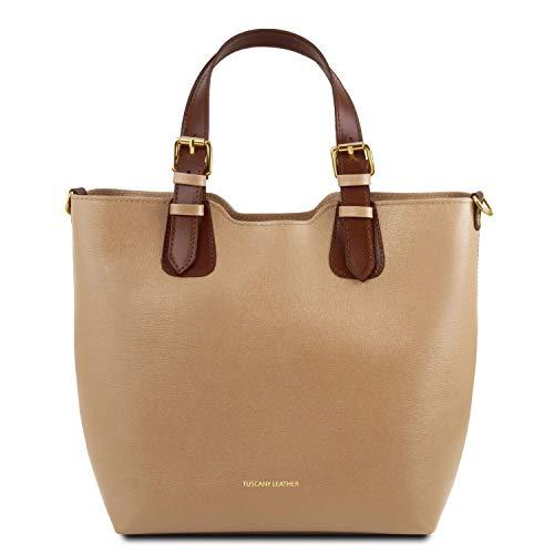 Main Bag Sac Saffiano Leather Tuscany TL Violet en Caramel Cuir TL141696 à S7qHnXEw