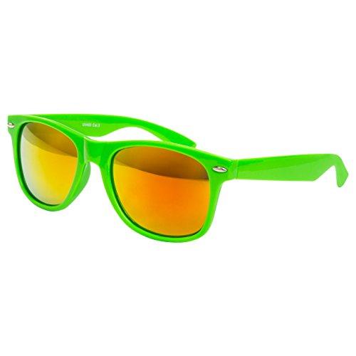 de de modèles retro de clear lunettes vintage coloris paire pour unisexe Neon et Grün lunettes différents Nerd env 150 wayfarer style Feuer soleil soleil Glas disponibles dimensions O8wIH8xq