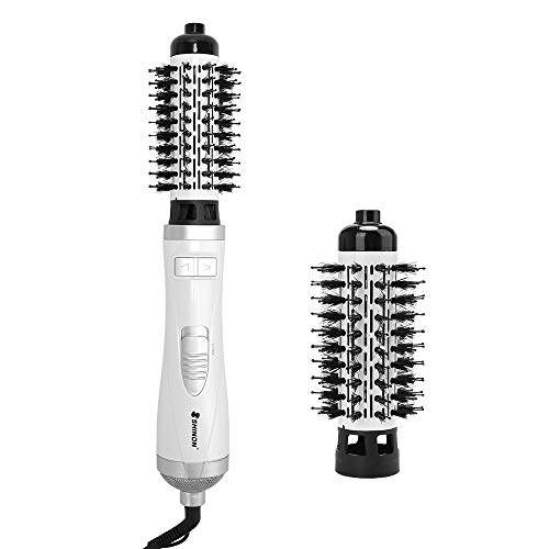 Professional Ionic Hot Air Brush, 3-in-1 One-Step Hair Dryer and Volumizer 900-Watts Lightweight Styling Brush for Hair Drying, Styling, Curling, Straightening, 1 1/4 Inch -  BM, ZLB00012