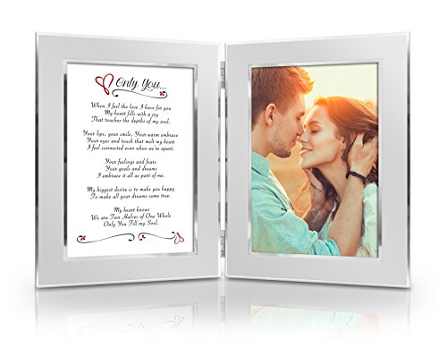 BEST Romantic Valentine Anniversary Birthday Wedding Gift for Her Him Wife Husband Girlfriend Boyfriend Soulmate Lover Date Night Gift Romantic Poem  Your Favorite Photo = Custom Poetry Gift